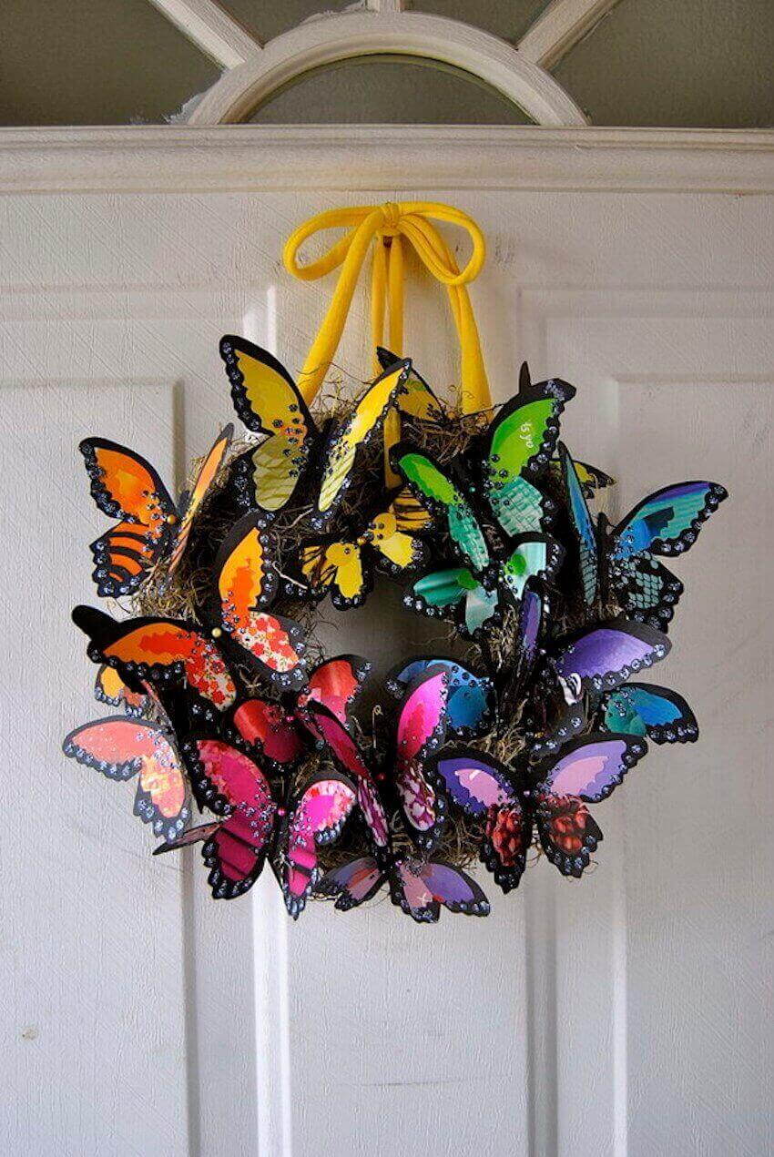 Butterfly bouquet for a home exterior
