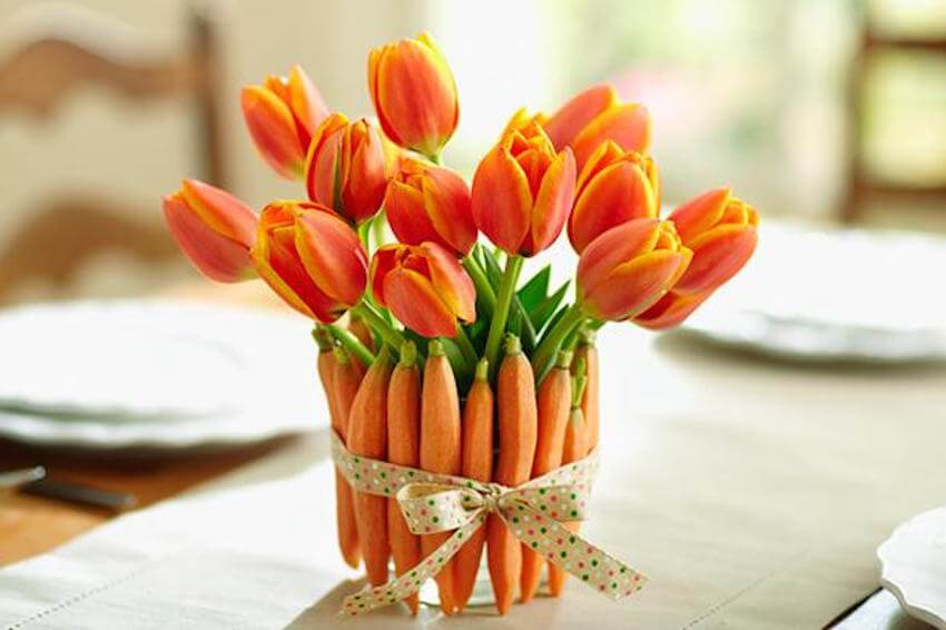 Springtime carrot decor