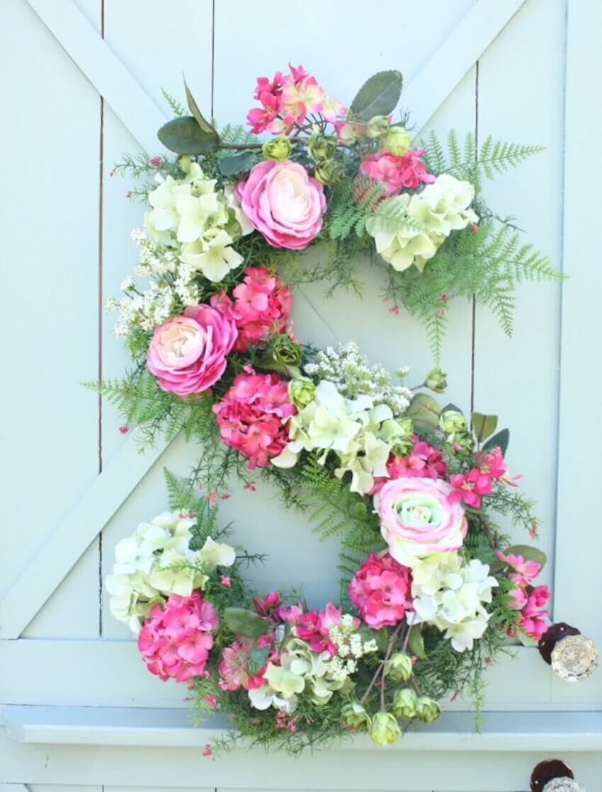 Floral wreath in an