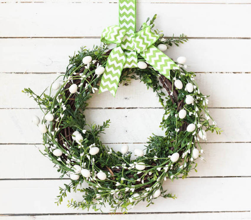 DIY front door wreath for your home exterior