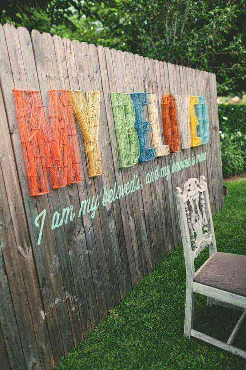 Show the world your artsy side with fence string art