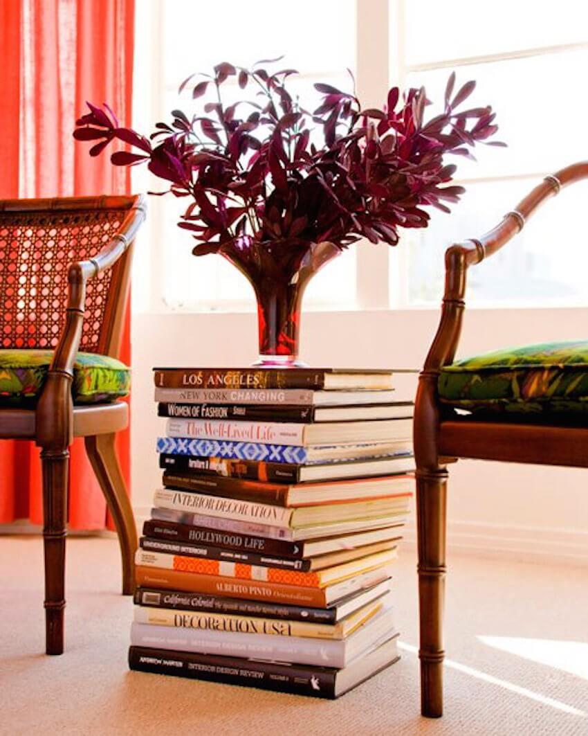 Interior decor: Make good use of books