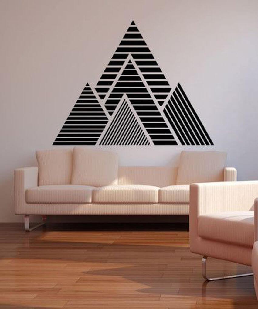 Interior vinyl wall decals