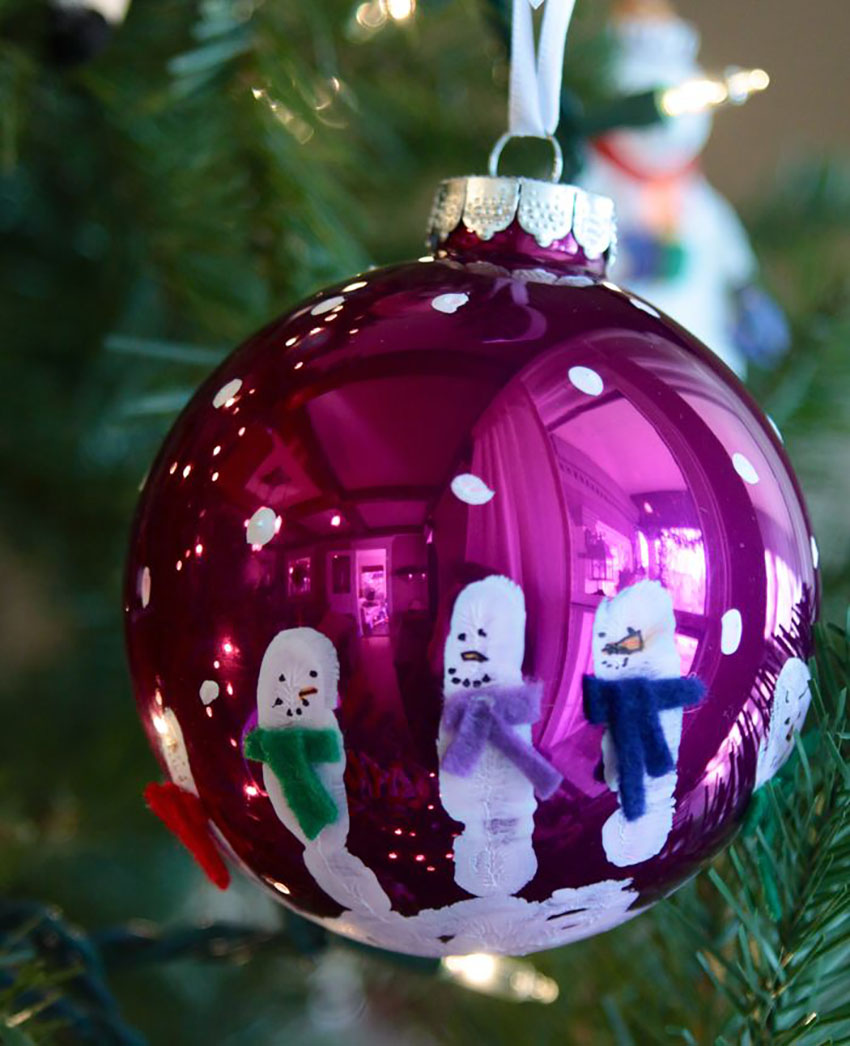 Hand Painted Ornament Christmas Holiday Craft