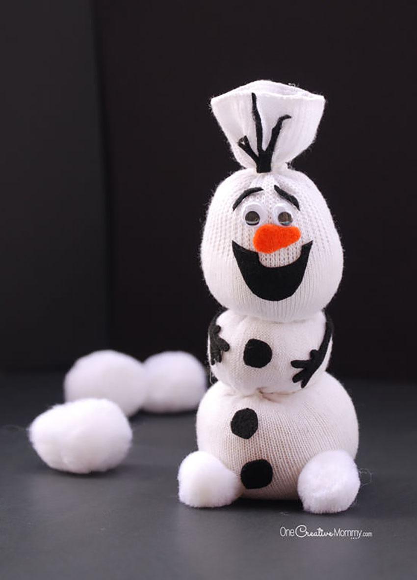 Olaf Sock Snowman - DIY Christmas Crafts