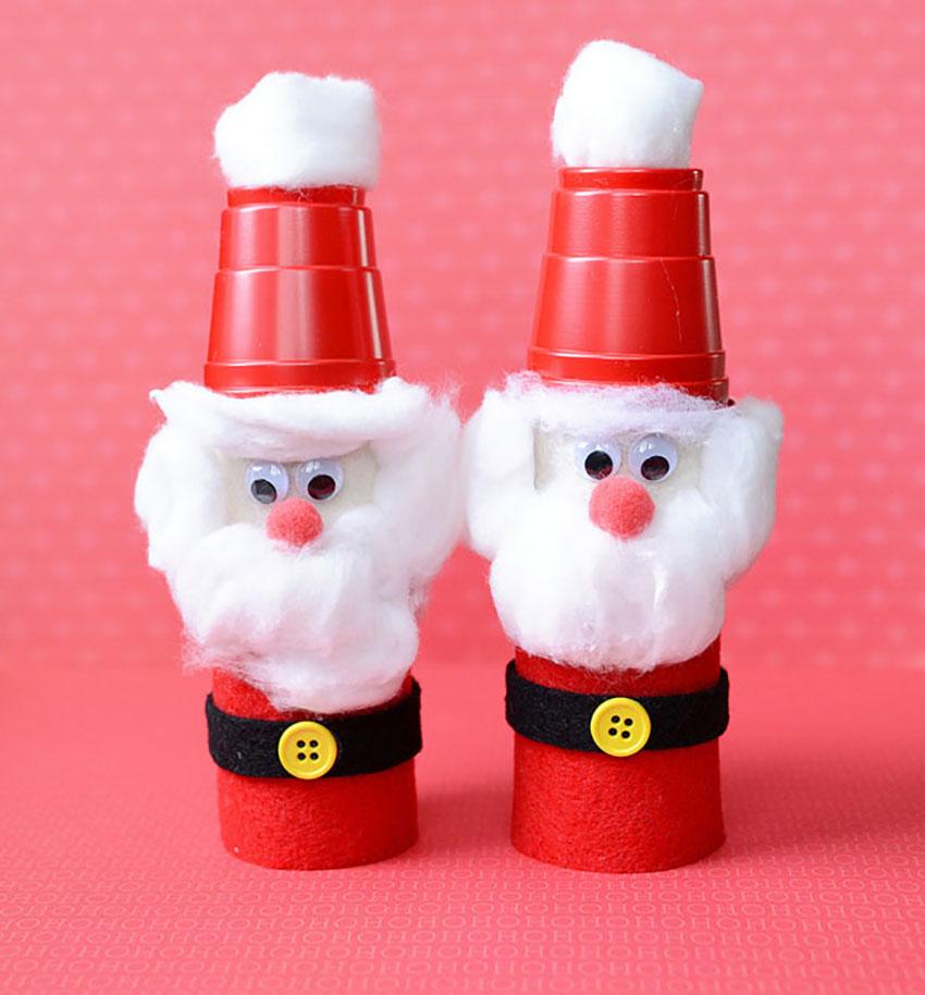 Toilet Paper Santa Christmas Holiday Crafts