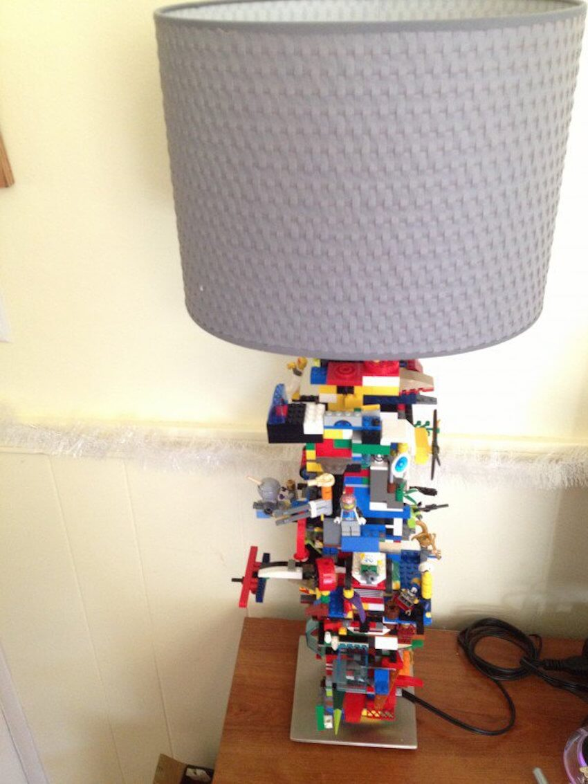 Lego lighting fixture: Add character to your lamp by adding LEGO pieces!