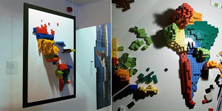 Looking for some unique wall art? Use LEGO pieces to create 3D maps.