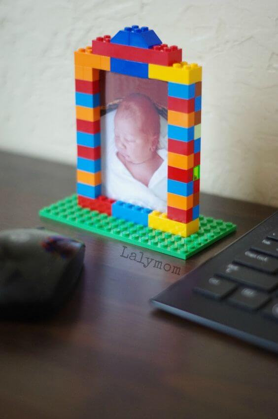 Home decor: Keep your memories in a fun and colorful LEGO picture frame.
