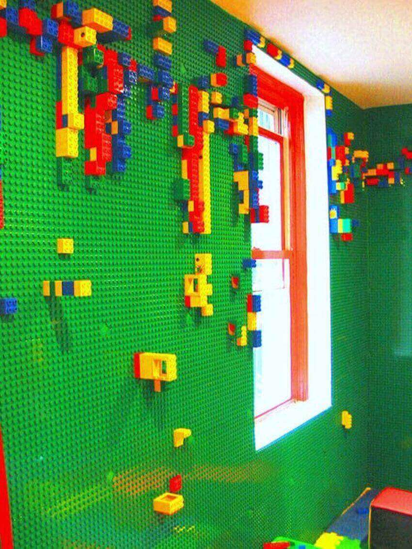 Interior walls: Turn your wall into a LEGO playground!