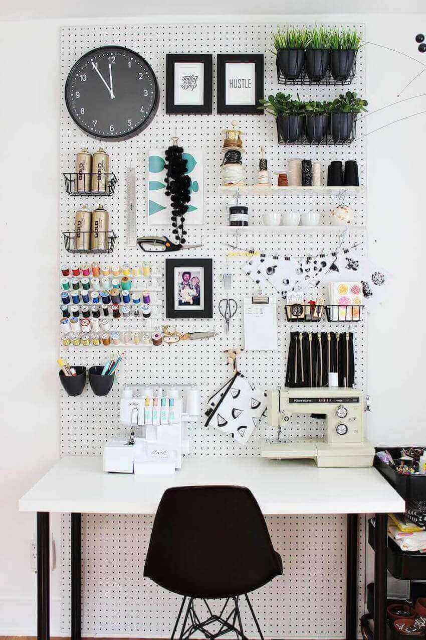 Make your interior walls functional as a tool holder
