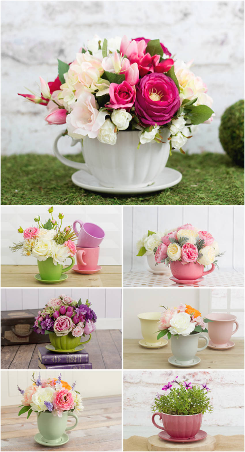 Floral teacup arrangements to show some love on Mother's Day!