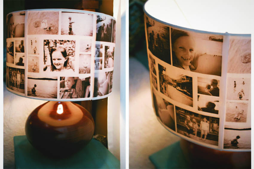 Beautiful Photo Lamp Shade for Mother's Day!