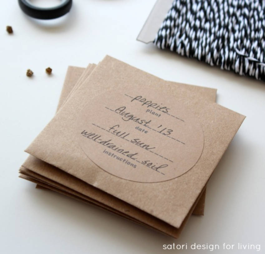 Seed packets for that grandma that loves gardening!