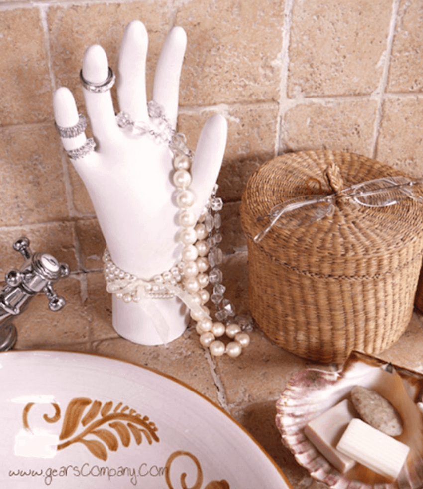Handy handyman DIY: For a unique ring organizer, make a DIY hand to hold all of your rings!