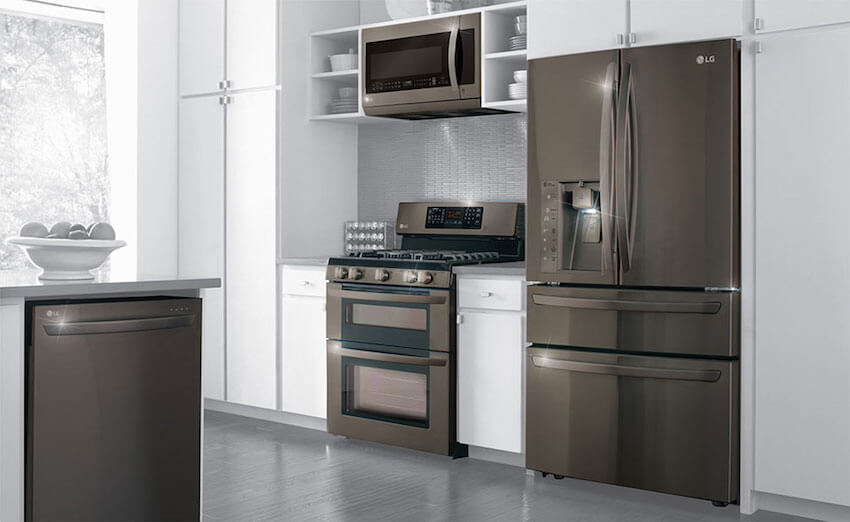 Black stainless steel appliances for your kitchen