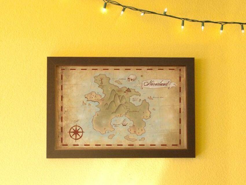 Wall art: Modernize your fantasy world maps by framing them.