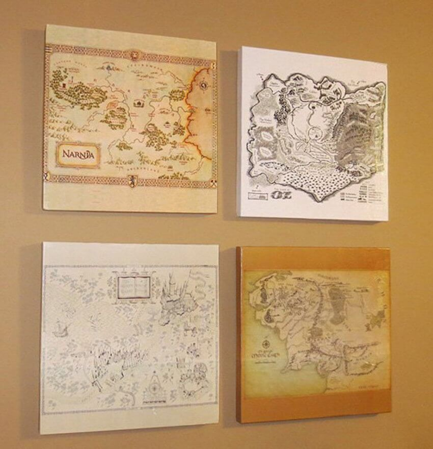 Wall art decor for all you Lord of the Rings fans!