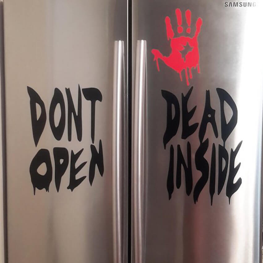 Kitchen decor: Use this Walking Dead sign with caution (people tend to ignore it)