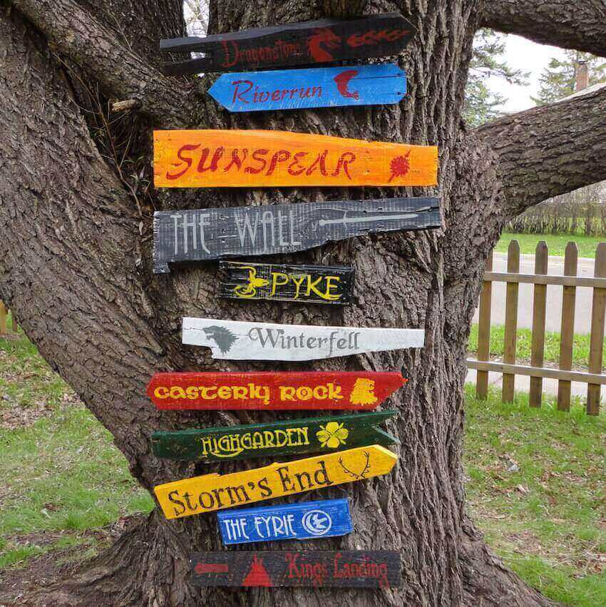 Exterior decor signs: Don't get lost in Westeros