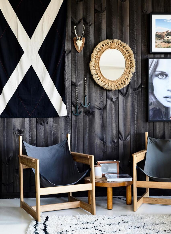 Dark wood can make any room more elegant.