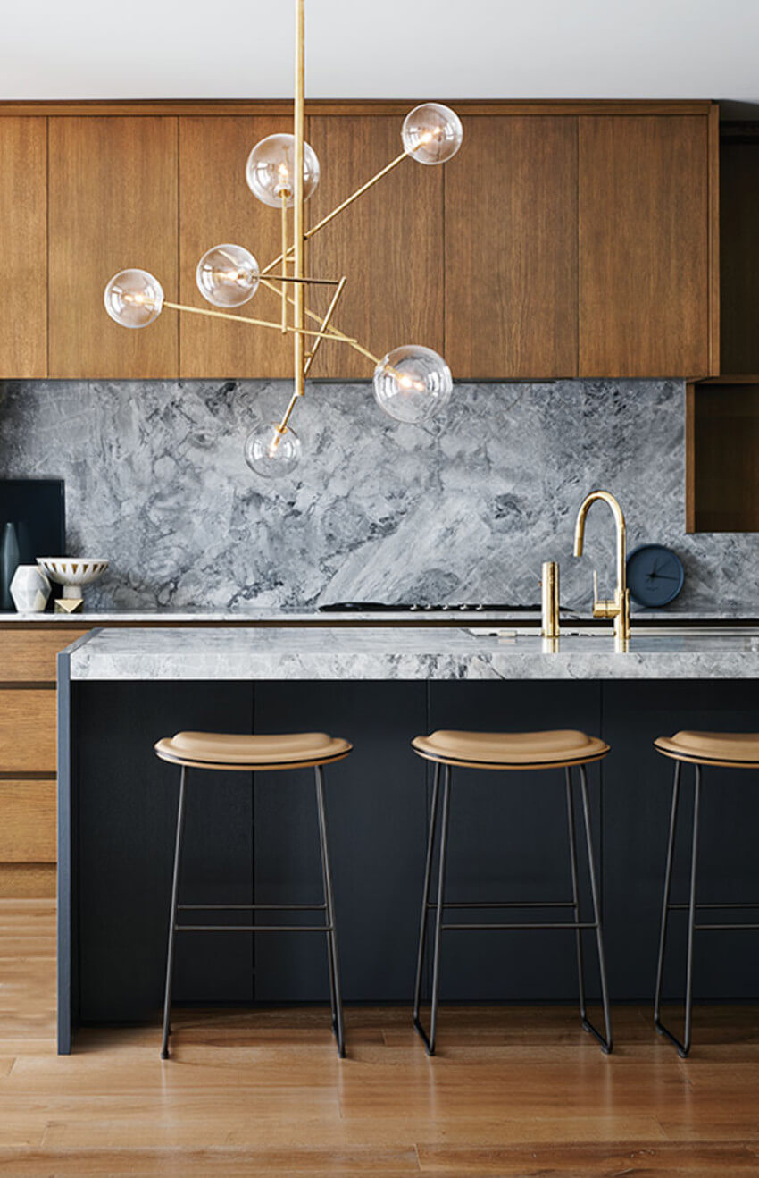 Marble and wood is a great combination