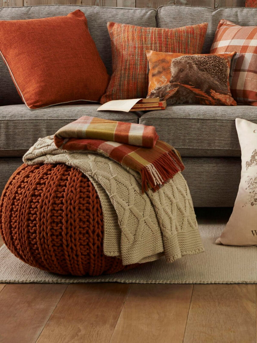 Warm colors will make the house much cozier.