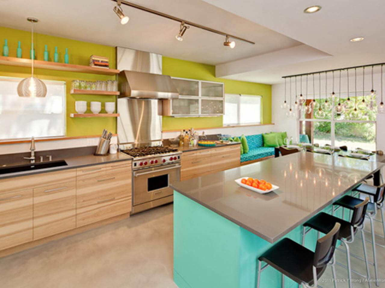 Kitchens can benefit from an assortment of old school colors