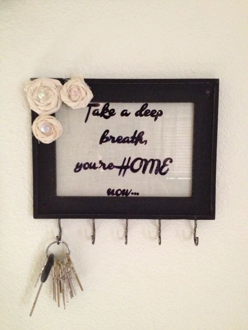 Wall art with a practical purpose for a home interior