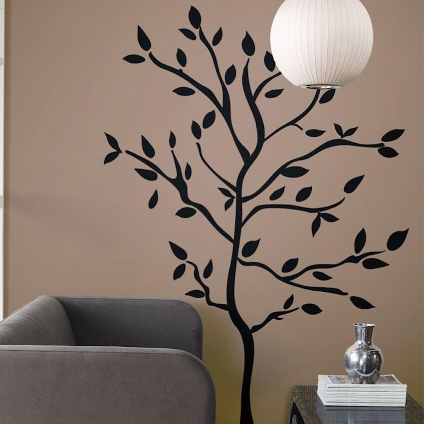 Wall decor for a home living room interior