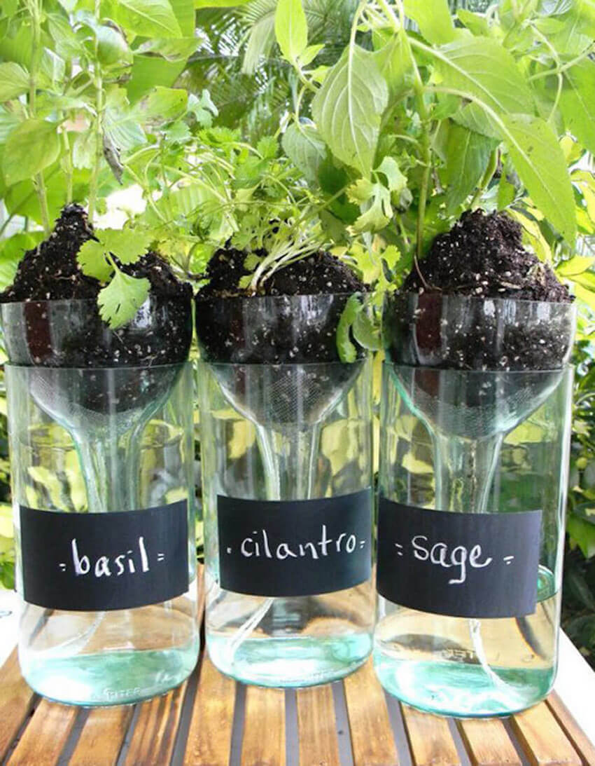 Wine planters you can do yourself