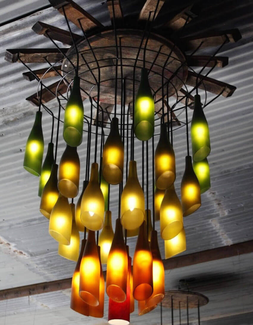 Entire DIY indoor chandeliers