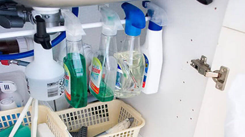 Organization in cleaning is key