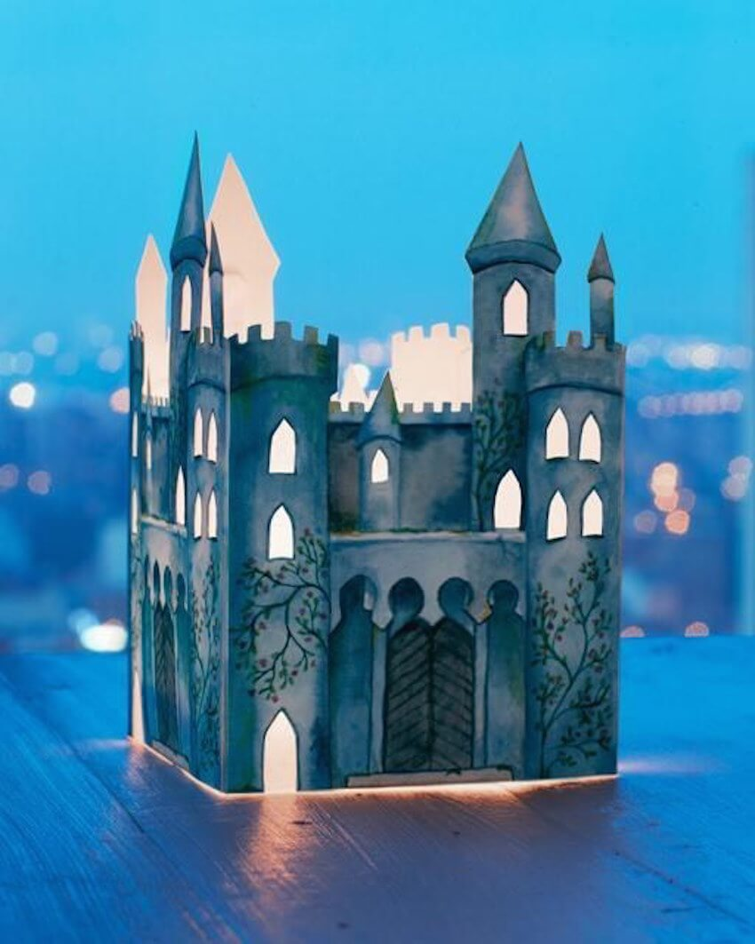 Ditch the store-bought nightlight and give your little prince or princess a homemade castle nightlight!