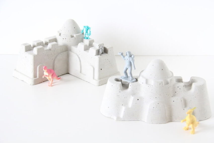 Making sand castles at the beach takes time, effort, and patience. Unfortunately, they never last long. Now you can make sandcastles that last forever by using cement!
