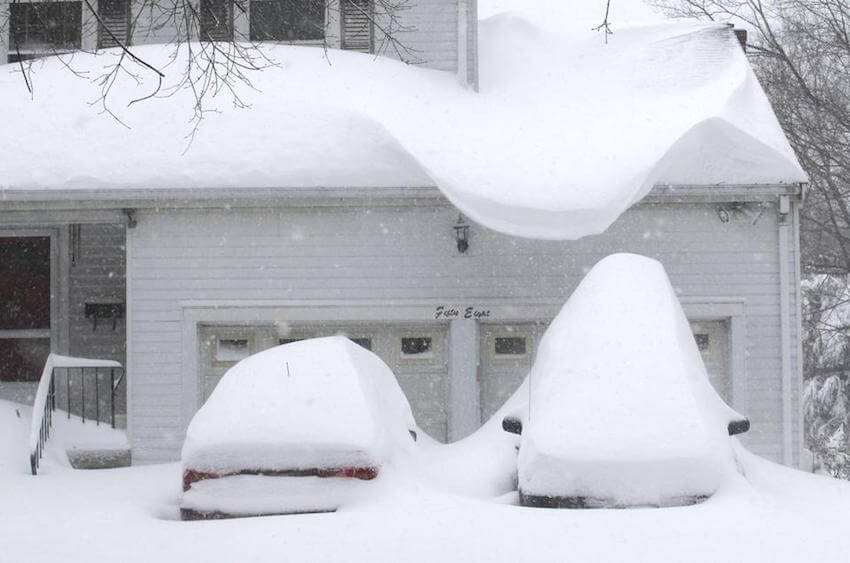 When your roofing is buried, you know it's serious
