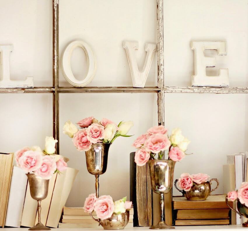 Love these pink vintage DIY decor