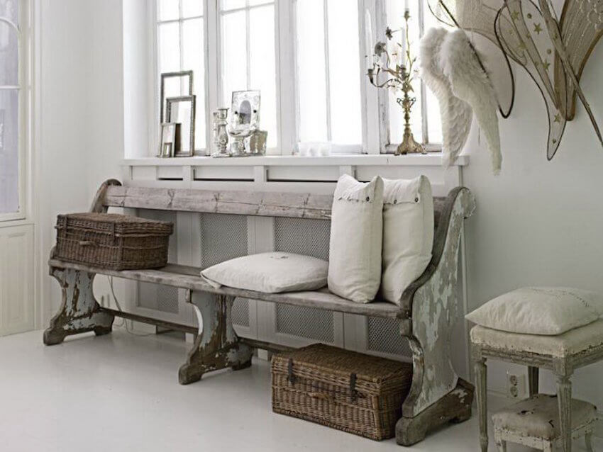 White vintage furniture decor for a home