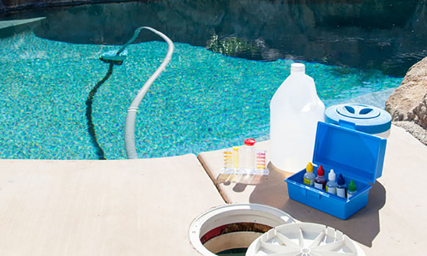 Test for chemical levels regularly to be sure your pool is safe.