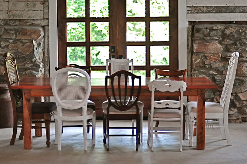Mix up the dining room chairs for adequate seating