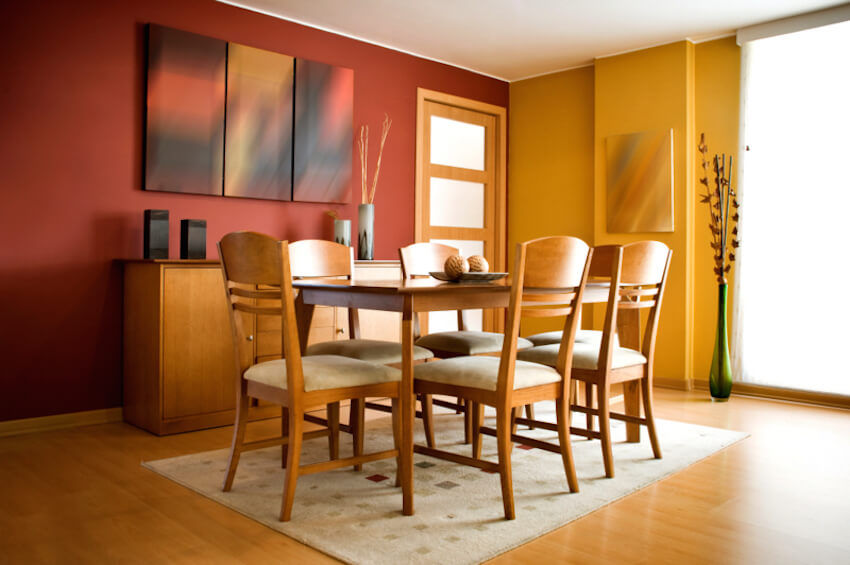 Eloquent wooden dining room table for a kitchen