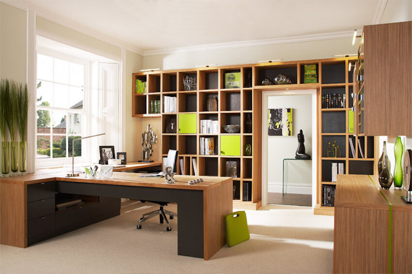 Neon green wood to inspire the workday