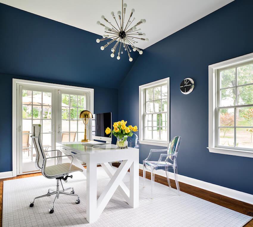 Blue interior painting enhances your perceptions