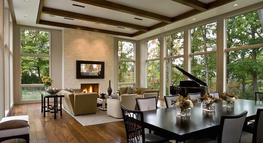 Ornate hardwood flooring for a living room