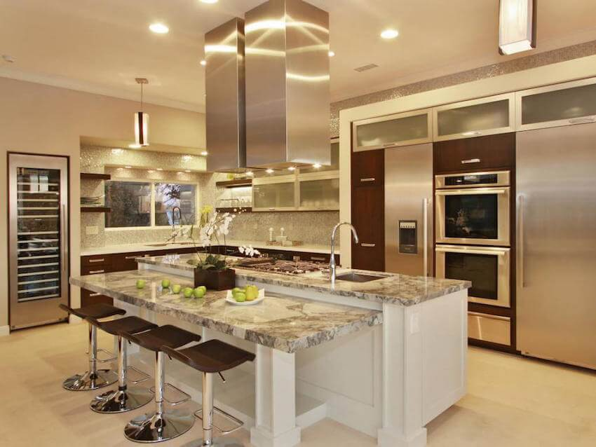 Kitchen remodeling: countertops, floors, cabinets, counters
