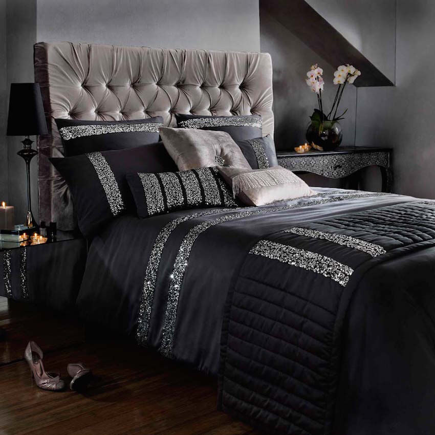 Many soft, comfortable pillows are a must for the master bedroom