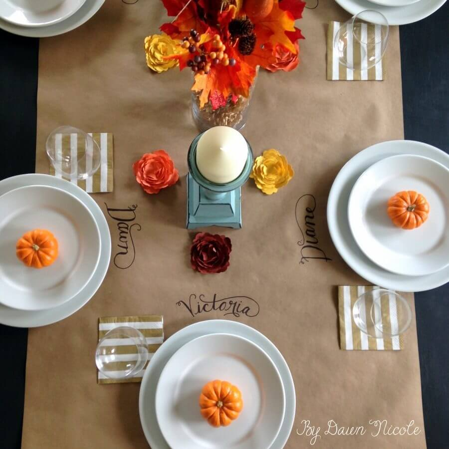 Alternative to dining room table cloth runners