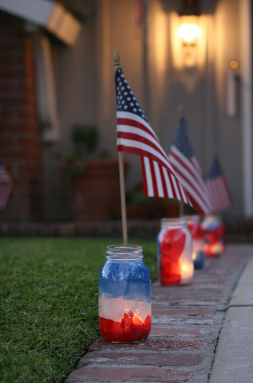 The luminaries are great the light up the pathway or backyard.