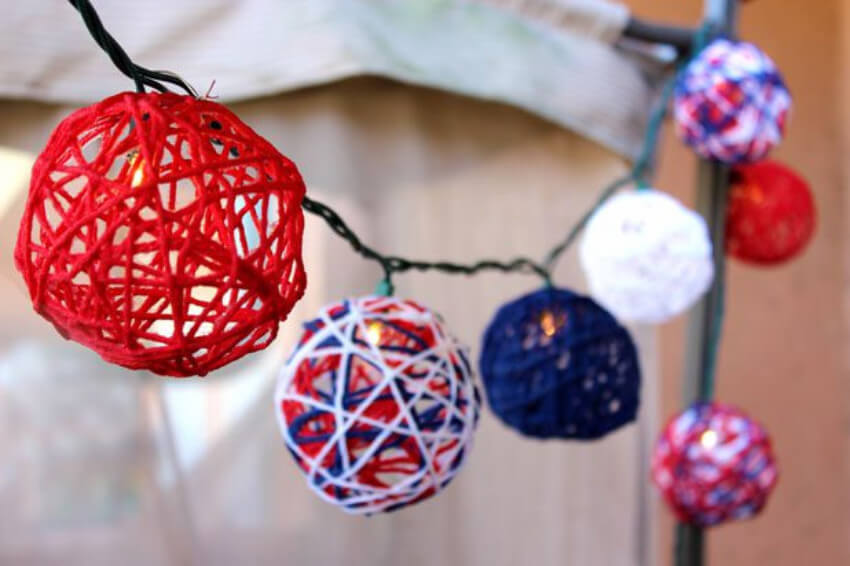 These string lights are perfect for your 4th of July party!