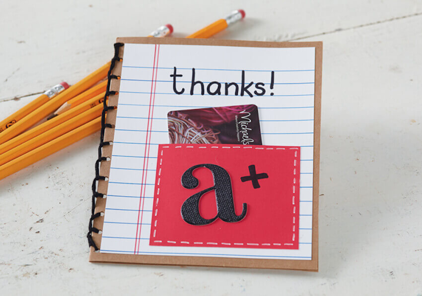 DIY teacher appreciation gift card holder